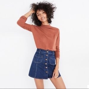 Madewell patch pocket jean skirt